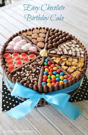 easy chocolate birthday cake lollies chocolates u0026 more bake