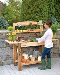 Garden Potting Bench Ideas Senoia Idea House Tour Outdoor Sinks Bench And Sinks