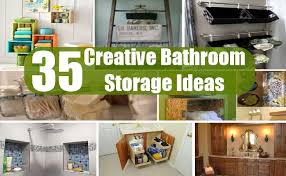 creative bathroom storage ideas 35 creative bathroom storage ideas diy home creative