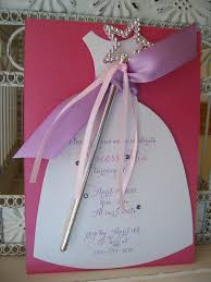 pretty princess birthday invitation with wand custom dress die