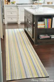 Blue And Red Striped Rug Adding Color In The Kitchen Honey We U0027re Home