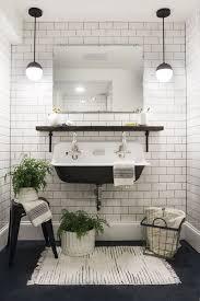 Subway Tile Bathroom Basement Bathroom Reveal Deuce Cities Henhouse White Tiles