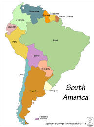 Columbia South America Map Outline Base Maps