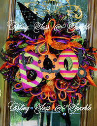 Halloween Wreaths Using Deco Mesh by 100 Halloween Wreath Witch Diy Dollar Store Halloween Witch