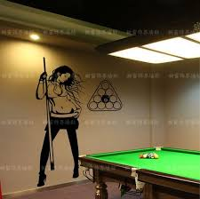 pool table wall art free shipping beauty snooker personality wall stickers
