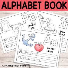 free printable alphabet book alphabet worksheets for pre k and k