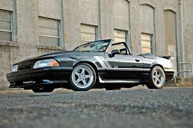 Black Fox Mustang 1993 Fox Body Saleen Influenced Custom Mustang Convertible Photo