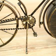 amazon com neotend handmade vintage metal bicycle clock bike mute