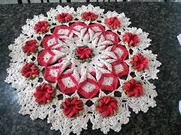 flower table enhance the beauty of tables with crochet table runners 1001 crochet