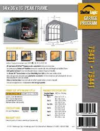 14 u0027x36 u0027x16 u0027 peak style shelter and garage for rv and campers