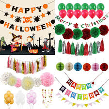 Happy Birthday Halloween Banner by Halloween Decoration Kit Party Banner Cut Out Paper Fans Lanterns