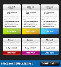 price box templates free psd download download psd