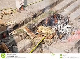 human cremation human cremation at pashupatinath temple nepal stock photography