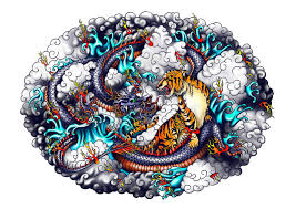 style and tiger design stock illustration