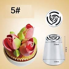 flower decorating tips 7pcs russian tulip cake icing piping nozzles flower decorating