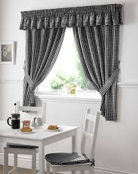 Kitchen Curtains Uk by Gingham Value Curtains Black Free Uk Delivery Terrys Fabrics