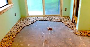 log floor cordwood construction diy littlethings