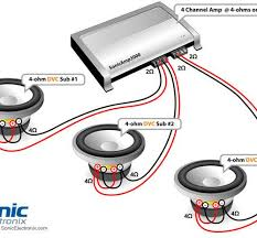 car subwoofer wiring diagram u0026 4 svc 4 ohm mono low imp