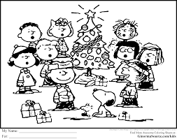 charlie brown christmas coloring page in coloring pages to print