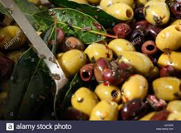 gourmet olives mixed gourmet olives on sale at a farmer s market stock photo