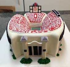 ohio state football stadium cake cakecentral com