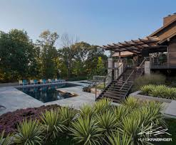 Pool Landscape Design by Kurt Kraisinger Shawnee Wooded Retreat