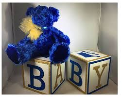 prince baby shower decorations royal prince baby shower centerpiece baby blocks glitter