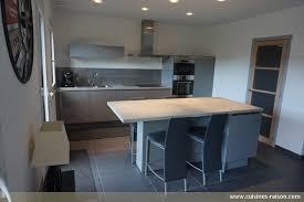 cuisine effet beton plan de travail cuisine effet beton 7 cuisine couloir parallele