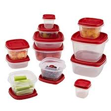 clear plastic kitchen canisters rubbermaid 24 food storage container set with