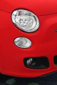 red velvet car fiat 500 abarth wrapped in blue velvet looks like a smurf