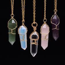 natural stone necklace pendant images Buy bullet shape opal quartz natural stone jpg