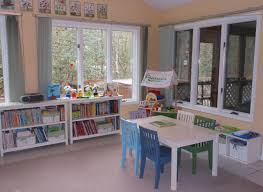 homeschool room with a view from natural beach living montessori