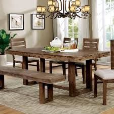 Dining Table Styles Furniture Of America Treville Country Farmhouse Natural Tone Plank