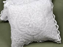 of throw pillow covers with full battenburg lace