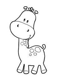 imagenes de jirafas bebes animadas para colorear pintar jirafas bebe