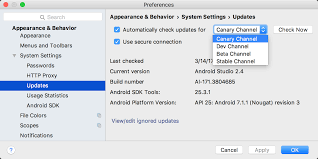 version of android install a preview version of android studio android studio