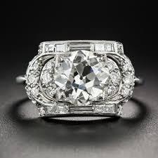 1 91 carat art deco diamond ring by maurice tishman