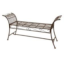 Wrought Iron Benches For Sale Wrought Iron U0026 Backless Benches Outdoor Benches On Hayneedle