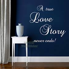 love story quote wall sticker diy home decoration wall art decor