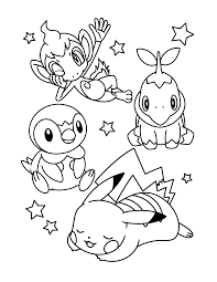 coloring page pokemon diamond pearl coloring pages 337