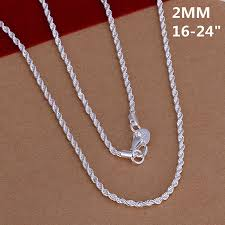 ebay necklace silver images Bulk solid sterling silver classic necklace chain for pendant pic