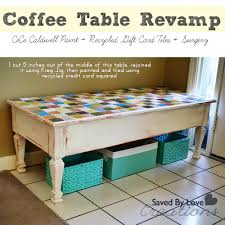 Painted Coffee Table Coffee Table Rev With Cece Caldwell Paint Recycled Gift Cards