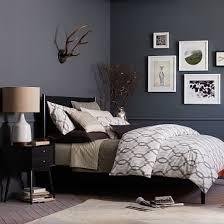 west elm bedroom mid century bed black west elm