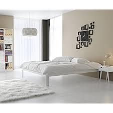 amazon com modway mia vinyl platform bed frame full white