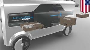 self driving van delivery ford unveils autolivery van equipped