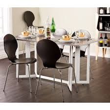 dining the white wooden space saving kitchen table in the