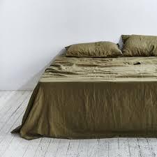 linen sheet set 100 linen sheet set in moss in bed store