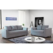 canapé 3 2 places canapés 3 2 places en tissu gris clair maison et styles