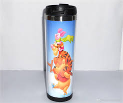 Best Stainless Steel Travel Mug by New High Quality Cartoon Winnie The Pooh Jumping Tigger Coffee Mug