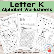 letter k worksheets alphabet series easy peasy learners